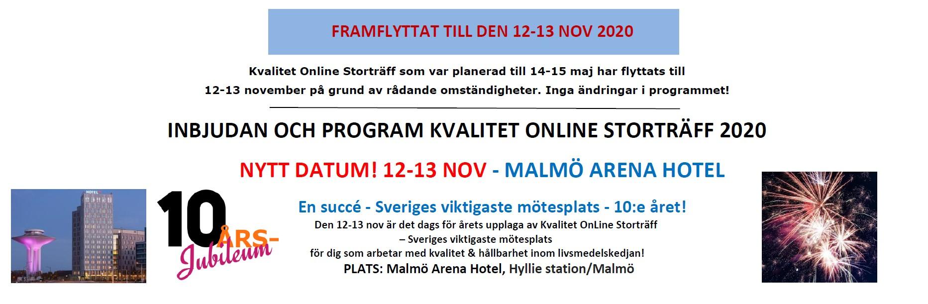 Kvalitet OnLine Storträff 12-13 nov 2020 - 10-årsjubileum! 1
