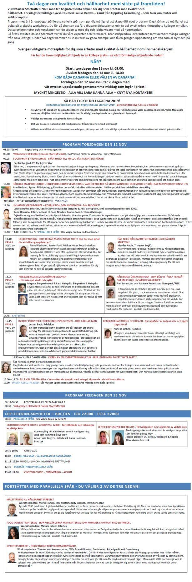 Kvalitet OnLine Storträff 6-7 maj 2021 - 10-årsjubileum! 3